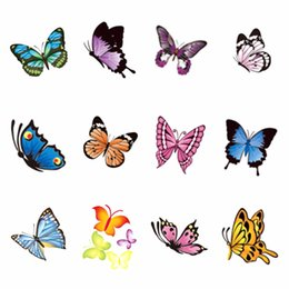 nail water decals black Promo Codes - YZWLE 1 Sheet Optional Butterfly Series Nail Sticker Water Decals Nail Art Water Transfer Stickers For Nails