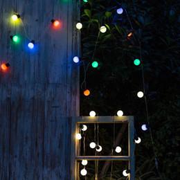 Luzes de corda de lâmpada redonda ao atacado on-line-Atacado! G40 20LED Retro Rodada Lâmpada À Prova D 'Água Luz Branca Quente AC Power String Luzes Da Lâmpada Ao Ar Livre Do Jardim Pátio Home Decor Luz de Casamento
