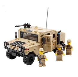 кирпич военного строительства Скидка Кази военный военный военный автомобиль Hummer H1 3D поле силы тяжелый тип модель строительный кирпич солдат Рождественский подарок игрушки для детей