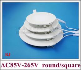 RONGJIAN (RJ) Lámpara de panel LED de techo superfino Lámpara de iluminación plana down downlight (6W-24W) AC85-265V redondo / cuadrado para EE. UU. Y Asia desde fabricantes
