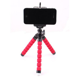 Mini tripé para câmeras on-line-Mini flexível Titular Camera Phone Flexível Octopus Tripé Bracket Stand Holder Mount monopé para iphone 6 7 8 mais smartphones