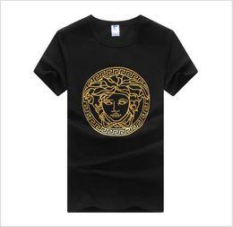 aecf037594eab tweed shirts Promo Codes - New Luxury Brand Men Poloshirt Round Neck T- shirts Street