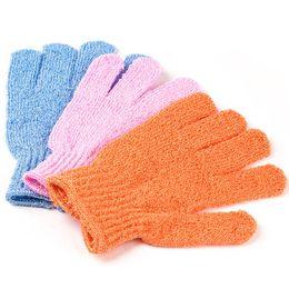 Wholesale Exfoliating Scrubs - 18*12cm Nylon Bath Shower Gloves 5 Colors Exfoliating Sponge Bath Skin Body Wash Massage Scrub Bathroom Accessories