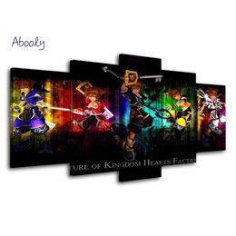 mano de buda pinturas al óleo Rebajas 5 Planos Póster de pared Kingdom Hearts Pintura Arte de la pared Cuadros Decoracion Arte Pintura nórdica Carteles para sala de estar