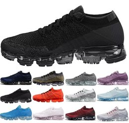 Wholesale newest casual shoes - Newest Vapormax Running Shoes 2018 Men Casual Sneakers Women Sports Boost Vapor Shock Outdoor Hiking Jogging Athletic Sports Shoes 36-45