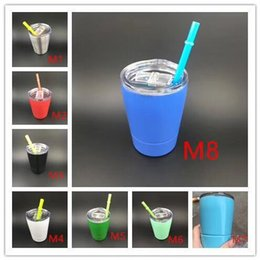 Wholesale Proof Love - New Style Kids Stainless Steel Tumbler Cups 8 oz with Spill Proof Slip Lids & with Plastic Straws non-Vacuum wine glass