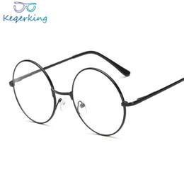 d3f827ee4f23f2 2019 lunettes fausses Vintage Lunettes rondes Lunettes De Mode Femmes  Transparent Optique Lunettes Cadres Preppy Style