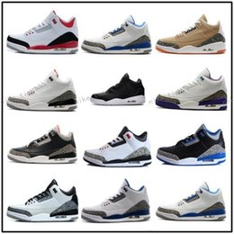Wholesale Size 13 Shoes For Men - 2018 shoes 3 white black cement infrared 23 basketball shoes sneakers for men designer 2017 GS wolf grey Advanced Quality Version size 8-13