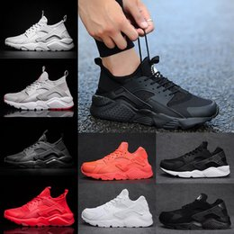 Wholesale Golf Iv - 2018 Air Huarache 4 IV and 1 Running Shoes for Men Women Triple Black white Red Huaraches Runs Breathable sports Sneakers Eur 36-45
