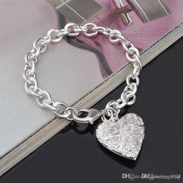 Canada Chaude 925 en argent sterling chaîne bracelet coeur rue style bijoux de mode cadeaux de Noël bas prix livraison gratuite Offre