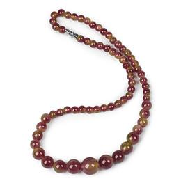 2019 collana di ambra nera Ambra 6-14 mm con un tocco di collana Jasper nera, semplice e sexy. Per le donne collana di ambra nera economici