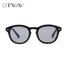 613e878fa2 OTWAY 2018 Ocean Lens Sunglasses Mujeres Colorful Plastic Frame Gafas de  sol Round Mirror Shades Glasses Brand Sunglasses