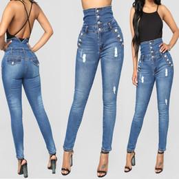 Preço da calça jeans on-line-Calças de brim da moda jeans de cintura alta design vintage jeans skinny preço barato cintura alta mulheres 2018 primavera outono legal calças de brim