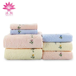 Wholesale Textile Rolls - muchun Soft Face Towel Little Flower 100% Nature Cotton Fabric Absorbent Washrag washcloth Home Textiles Shower Cleaning Towel