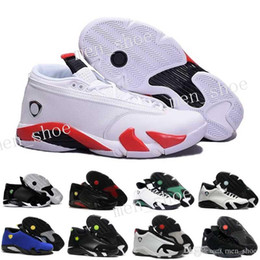 Wholesale Rubber Packaging - 2017 Air 14 DMP Basketball Shoes For Men Black Gold 98 Deigning Moments Package Sneakers Sport Shoes with Original Box US 8-13