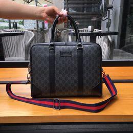 Argentina De alta calidad de PVC para hombre bolsa de hombro de cuero real maletín diseñador de la marca para hombre bolsa de marca de lujo bolsa de ordenador portátil de cuero real bolsas de documentos Suministro