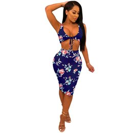 a6875ecf62c Two Piece Set 2018 Summer women crop tops and Pencil Skirts Sets 2pcs Navy  Blue outfits 2 piece set women matching sets CL684 crop top shorts skirt set  ...