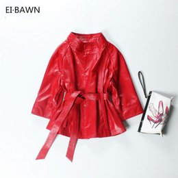 c66ed0f9bbe 2018 Red Genuine Leather Jacket Women Plus Size Real Sheepskin Black Pink  Purple Leather Coat Women Outerwear jaqueta de couro