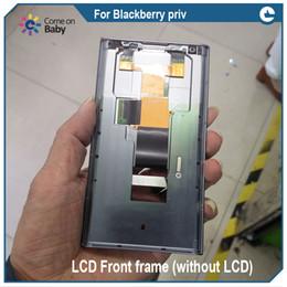 2019 parties de mûre Pour BlackBerry Priv Cadre de lunette avant LCD Cadre moyen de plaque centrale de logement + couverture arrière + puissance Réparation Pièces de rechange promotion parties de mûre