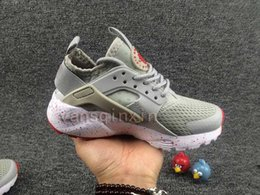 Wholesale baby girl fall - 11Color New Huarache Kids shoes For boys girls baby children Air Huaraches ultra boost white black 4 trainer sneaker sports shoes size28-35