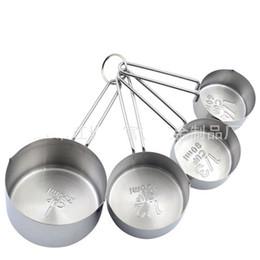 Progettisti di cucina online-Creativo Designer Multi Color Cucina Strumenti di cottura per la casa in acciaio inox grande cucchiaio 4 pezzi in oro rosa tazza di misurazione 23 8fq aa