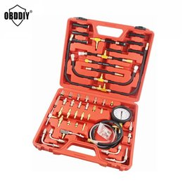 Wholesale Gauge Tester - Universal Automotive TU-443 Deluxe Manometer Fuel Pressure Gauge Engine Testing Kit Fuel Injection Pump Tester Free Shipping