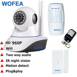 Wholesale Home Security Camera Kits - 960P HD CCTV IP Security Camera Wifi GSM SMS alarm system WiFi IP Camera Home Office Burglar alarm System Motion Sensor Kit