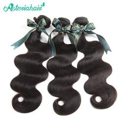 extensiones de cabello clip 613 27 Rebajas Asteria Cabello Cabello humano Paquete brasileño Onda del cuerpo Tejiendo solo 1 unidades 10-30 pulgadas Natural Negro No Remy Free Shiping