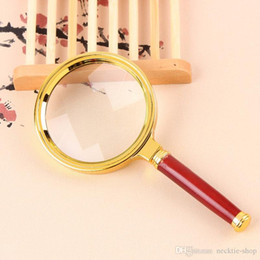 Wholesale jewelry repair glasses - Hot style 80mm Handheld 10X Magnifier Magnifying Glass Loupe Lens For Easy Reading Jewelry Watch Repair Tool