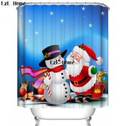 LZL Home 3D Fertig Duschvorhang Merry Xmas Serise Badezimmervorhang  Wasserdicht Mildewproof Dusche Bad Vorhänge Polyester Finish Im Angebot