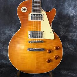 2019 classica di chitarra Spedizione gratuita 2018 fabbrica diretta Classic 1959 R9 Yellow Burst Cina Guitar Style chitarra elettrica standard con chitarra guitars classica di chitarra economici