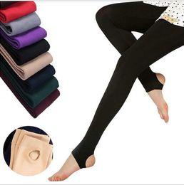 Wholesale Super Slimming Tights - Women Winter Thick Warm Fleece Faux Velvet lined Legging Knitted Thick Slim Leggings Tights Super Elastic pantyhose Leg Shaper 500pcs
