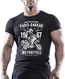 Motos de motos online-Paris Dakkar Rally Motorcycle - Camiseta negra para hombre