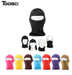 Wholesale Ninja Party - Outdoor Ski Motorcycle Cycling Balaclava Full Face Mask Neck Ultra Thin Windproof Cotton Full Face Neck Guard Masks Ninja Headgear Hat Smart