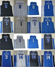 Wholesale duke blue - Duke Blue Devils College Jerseys 1 Kyrie Irving 1 Harry Giles 3 Grayson Allen 14 Brandon Ingram 0 Jayson Tatum 4 Redickr Stitched Jerseys
