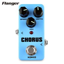 Wholesale Chorus Flanger Pedal - Flanger FCH-2 Mini Guitar Effect Pedal Guitarra High-Power Tube Guitar Simulation Chorus Effect Device
