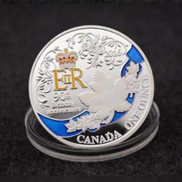 Argentina 5 piezas Las monedas más nuevas de la reina Isabel del cumpleaños 90 platearon la insignia coloreada de 40 milímetros de la moneda del recuerdo del recuerdo del hogar Suministro