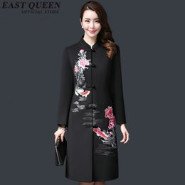 1a93e4740d Vintage embroidery traditional chinese clothing women autumn jacket 2018  new arrivals long coat 3XL 4XL 5XL AA2893 YQ