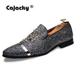 e3798d609959de herren silberne müßiggänger Rabatt Cajacky Luxury Brand Herren Kleid Schuhe  Diamant Loafers Slip On Strass Party