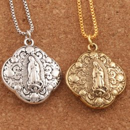 Wholesale Grace Party - 2colors Catholic Gift Our Lady of Grace Miraculous Mary Travel Protection Pendant Necklaces N1789 24inches Jewelry