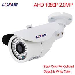 caméra cctv étanche vision nocturne Promotion LOFAM AHD Caméra 1080P 2MP CCTV En Métal Extérieure Imperméable De Sécurité Caméra De Surveillance Nuit Vision 1080P 2.0MP AHD