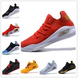 Wholesale Mvp Shoes - with box Under Armour 2018 Stephen Curry 4 Low Cut Basketball Shoes Curry 4 Gold Championship MVP Finals Sports training Sneakers