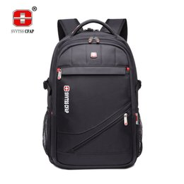 Wholesale Laptop Bags 17 Black - Unisex Backpack Laptop 15.6 17 inch Notebook Computer backpack men Large Capacity Casual Waterproof nylon women Back bag male