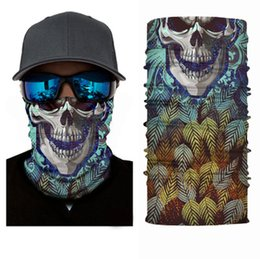 Wholesale Hand Dyed Scarves - Skeleton Camouflage Scarf Bandanas Multifunctional Magic Turban Outdoor Sunscreen Hair Hand Scarves Wraps DHL Fast Shipping BD00#7
