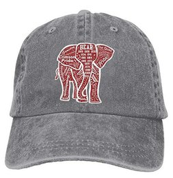 Chapéu de vaqueiro vermelho original do elefante de Alabama chapéus chiques do boné de beisebol da sarja de Nimes do vintage cheap unique caps de Fornecedores de bonés exclusivos