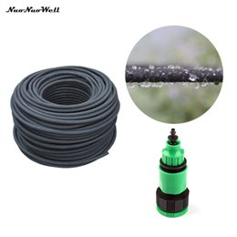 drain de tuyau Promotion 30m Durable Anti-vieillissement 4 / 8mm Soaker Tuyau Système d'irrigation agricole Fuite de tube Permeable Pipe Arbres fruitiers Arrosage Drains