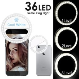 Wholesale Led Light For Shooting - 2018 New Selfie Portable Phone Ring Light with 36 pcs led light for iPhone Samsung with Package Fill Light Photography Spotlight Night Shot