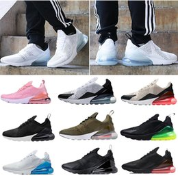 Wholesale Women High Heels Sneakers - 2018 High quality 27C Sneakers Mens Running Shoes Men 270 Air Flair Triple Black white Sport Boots 2 Women Sport Shoes Free shipping