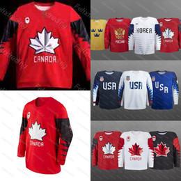 Wholesale Russia Hockey - Canada 2018 Winter Olympics Hockey Jerseys USA Russia Czech Republic Sweden Finland Korer Team Stitched Custom Hockey Jerseys Free Shipping