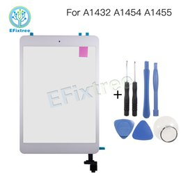Wholesale Ipad Mini Digitizer Assembly Black - New A1455 A1454 A1432 Digitizer Panel Front Glass For iPad mini 1 Touch Screen with Home Button Assembly Black White